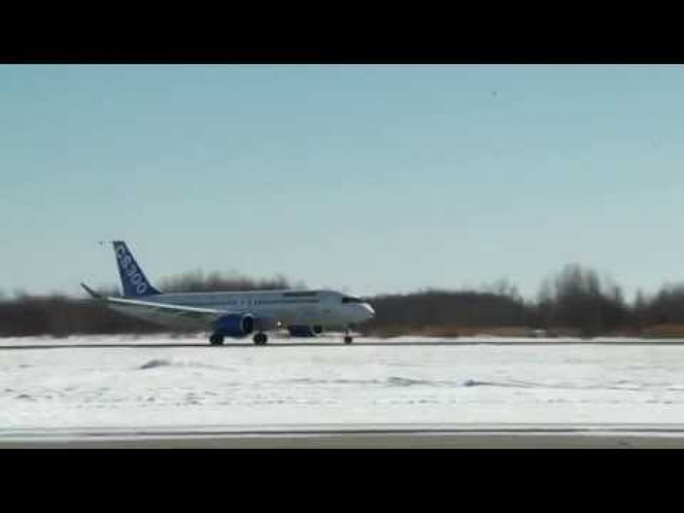 Bombardier CS300 Completed First Flight