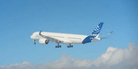 Airbus A350 XWB First Flight (Video)