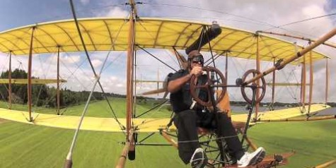 Video – Flying the Curtiss Pusher