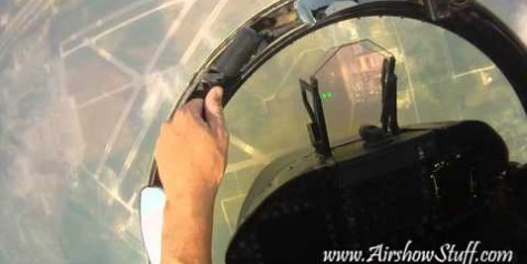 Helmet Cam – Riding a US Navy F/A-18C Hornet