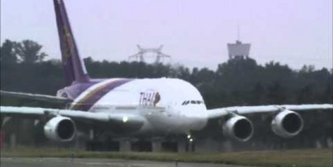 Video –  THAI's First Airbus A380 Takes Off