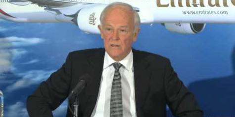 "Emirates Press Conference – ""Big three US Carriers playing with dirty hands"" (Video)"
