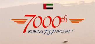 7000th Boeing 737 Delivered