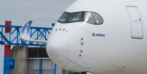 Photos – First Airbus A350 XWB Rolls Out of Paint Hangar