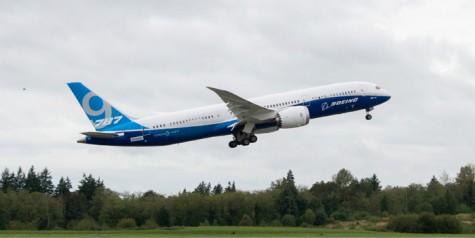 First Flight of Boeing 787-9 Dreamliner