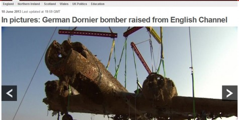 Dornier Do-17 Bomber Raised from English Channel
