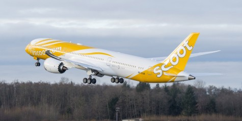 Pics – Scoot's First 787 Dreamliner