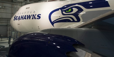 Photos – Boeing 747-8F with Seattle Seahawks Livery