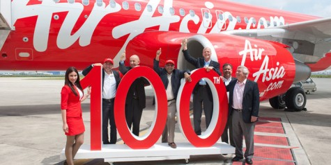 Photos – Air Asia's 100th Airbus A320