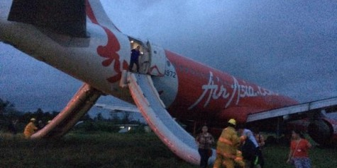 AirAsia A320 Runway Excursion (Photos)