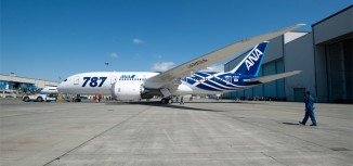 Photo – ANA Boeing 787 Roll-Out for First Delivery