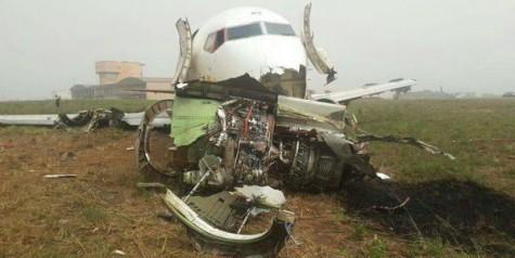 Ethiopian Cargo Boeing 737 Crash Landing