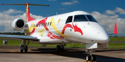 Jackie Chan Receives Embraer Legacy 650