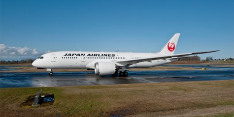 First Boeing 787 for Japan Airlines (JAL)