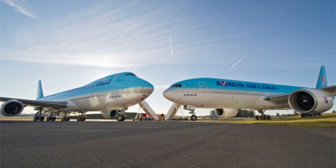 Delivery of First Korean Air 747-8F and 777F