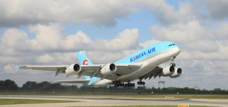 Photos – First Korean Air Airbus A380 Takeoff