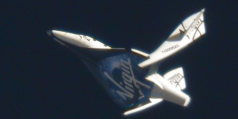 SpaceShipTwo First Feathered Re-Entry