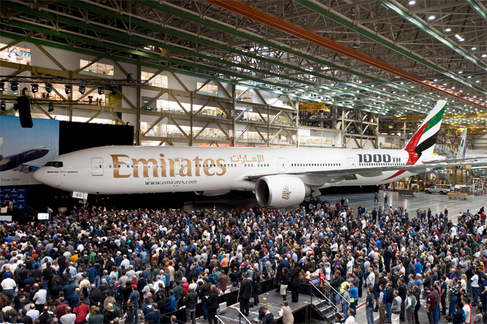 1000th Boeing 777 Built (Emirates)
