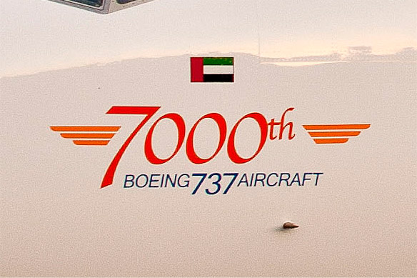 7000th Boeing 737 Logo
