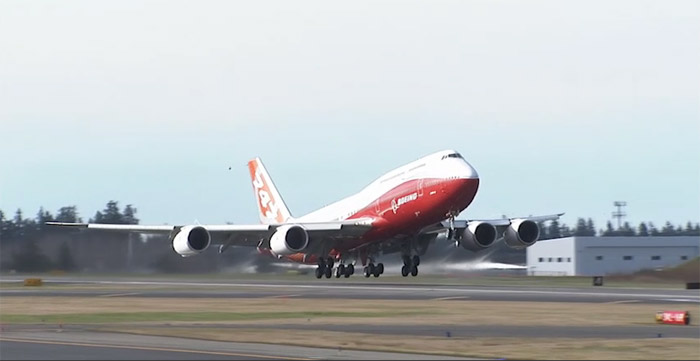 Boeing 747-8I First Flight