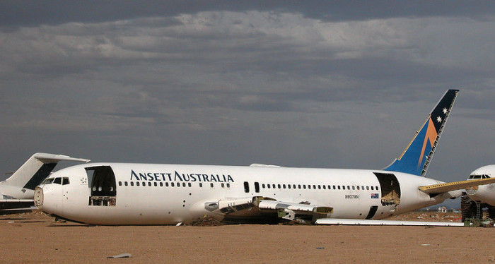 Retired Ansett Australia Boeing 767-204 at the Mojave Desert