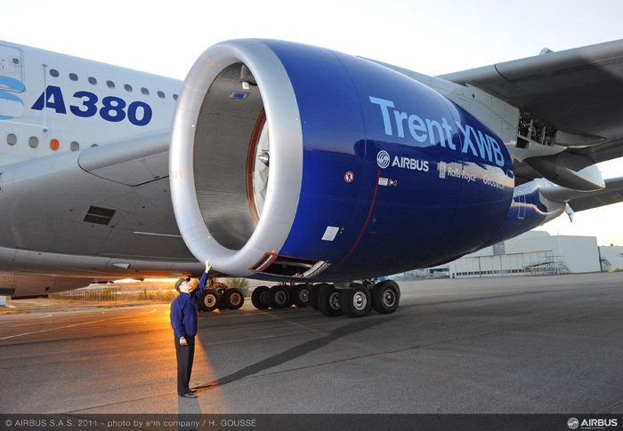 Airbus A350 XWB Engine Test Bed on Airbus A380