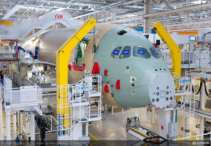 Airbus A350 XWB Final Assembly Toulouse France