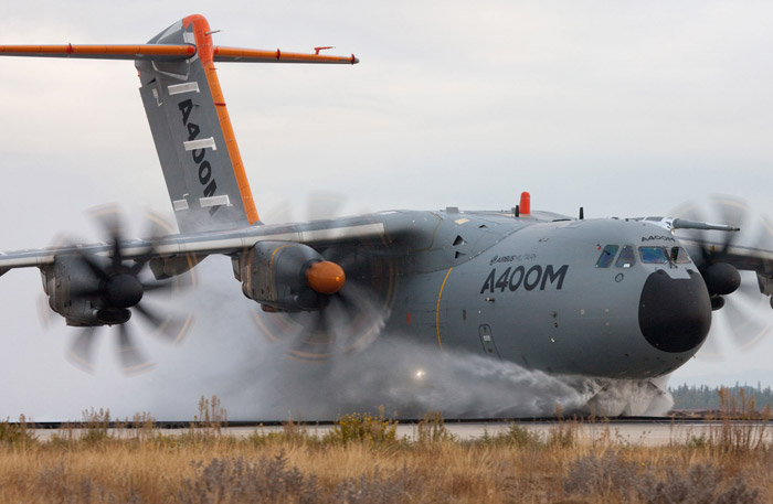 Airbus A400M Water Ingestion Test