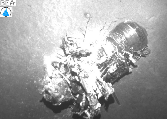 Air France AF447 Wreckage Engine