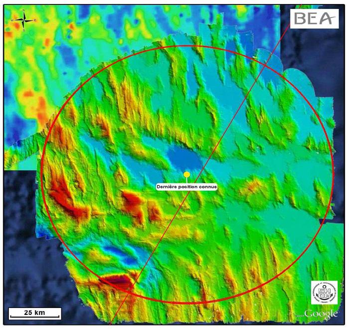 Air France AF447 Location Map