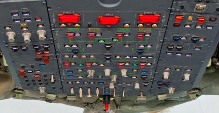 Airbus A350 XWB Cockpit Overhead Panel