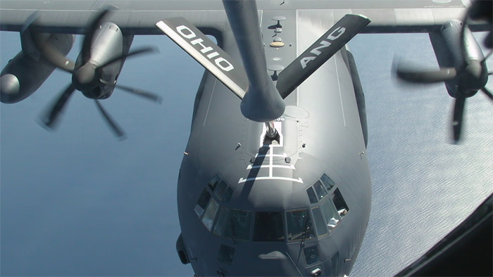 HC-130J Air-to-Air Boom Refueling