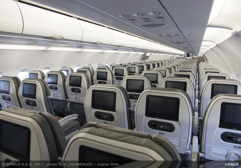 Iran Air Airbus A321 Cabin