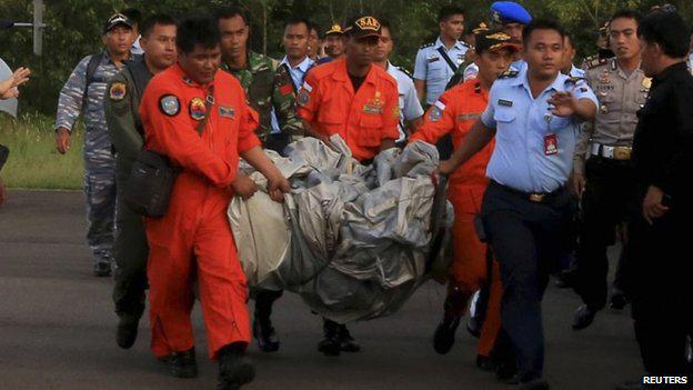 QZ8501 inflatable emergency slide recovered
