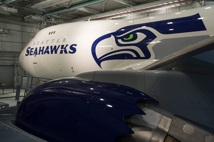 Seattle Seahawks Boeing 747-8 Freighter