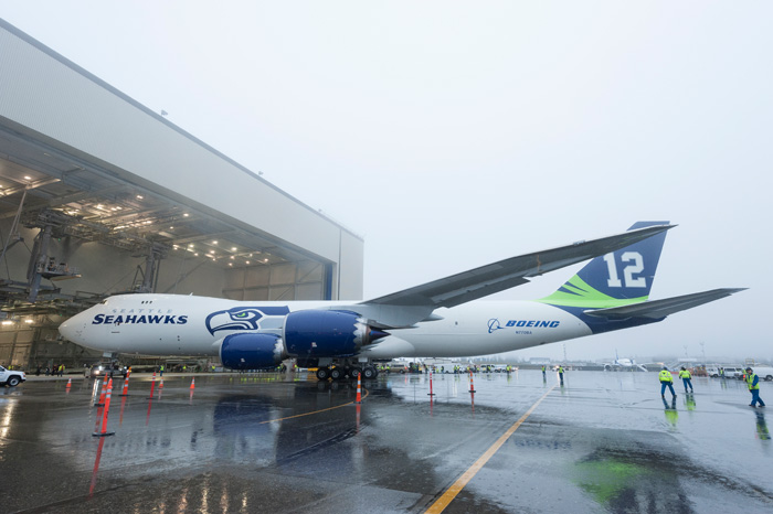 Seattle Seahawks Superbowl Boeing 747-8 Freighter
