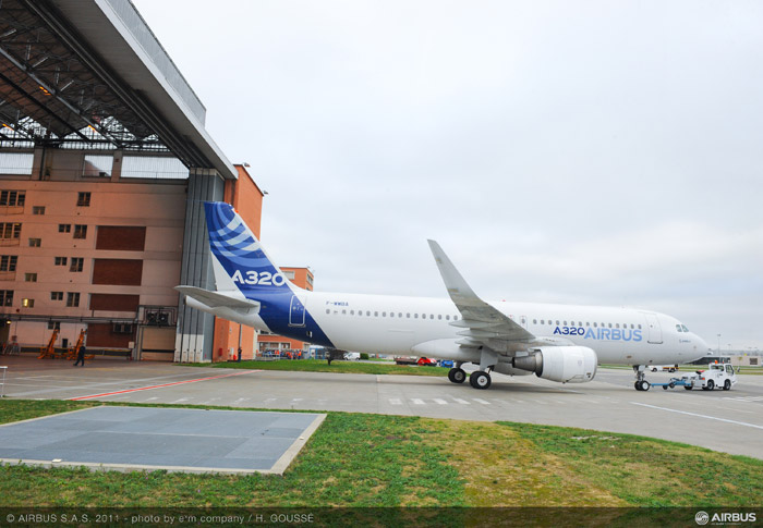 Airbus A320 Sharklets prepared for Flight-Tests