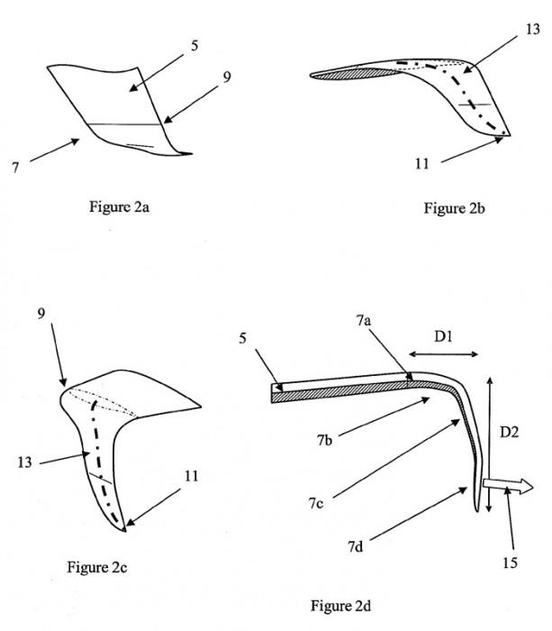 Airbus downward-facing wing tip designs