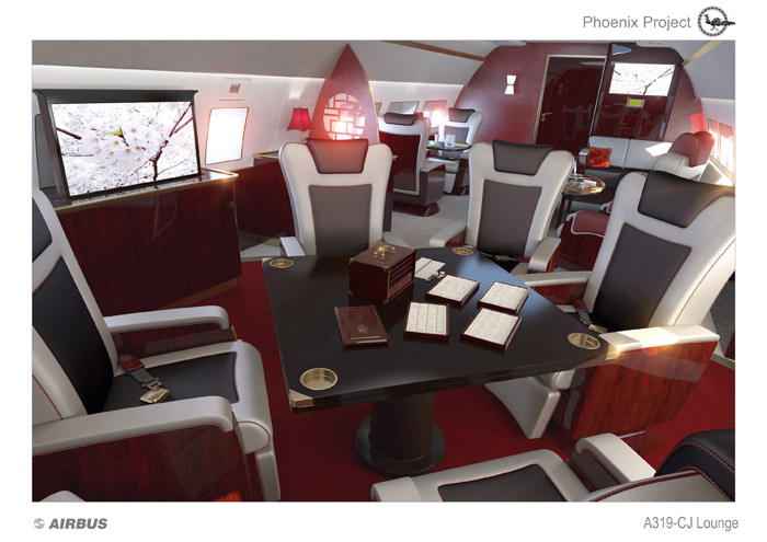 Airbus Corporate Jet Phoenix Cabin Concept
