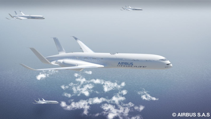 Airbus Free-Flight Formation Along Express Skyways