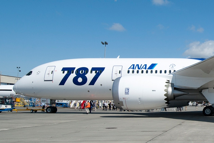 ANA First Boeing 787 Roll-Out for Delivery - Nose