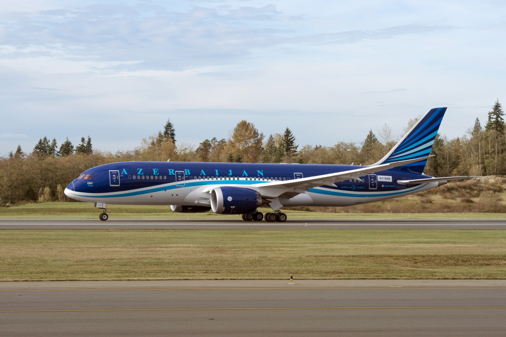 Azerbaijan Airlines AHY 787-9 #211 at Paine Field