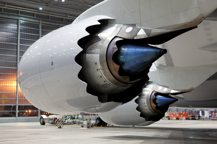 Boeing 747-8 Engines at Lufthansa Technik Germany