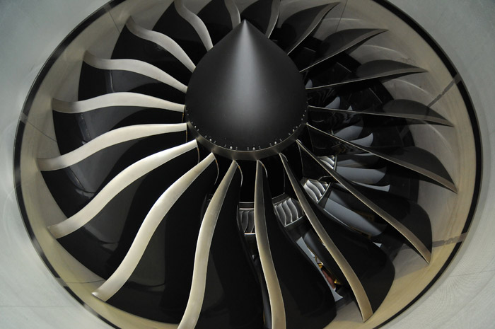 Boeing 747-8 Engine Fan at Lufthansa Technik Germany