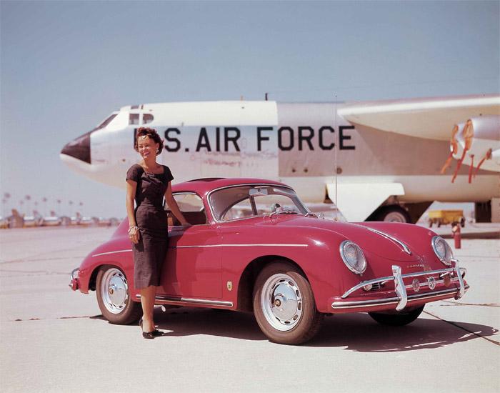 Boeing B-52 Superfortress with Porsche Car