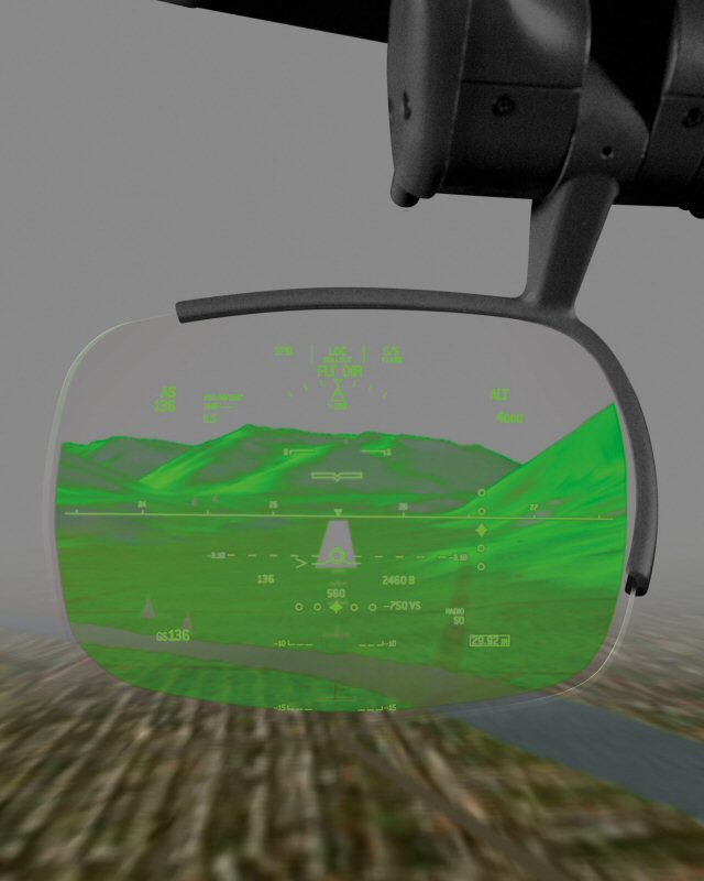 Bombardier Vision Flight Deck Head-Up Display (HUD)