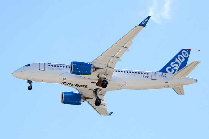 Bombardier CS First Flight