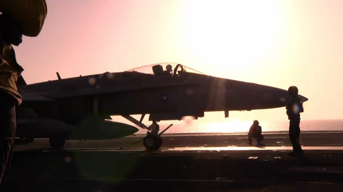 F/A-18 on board of USS Eisenhower