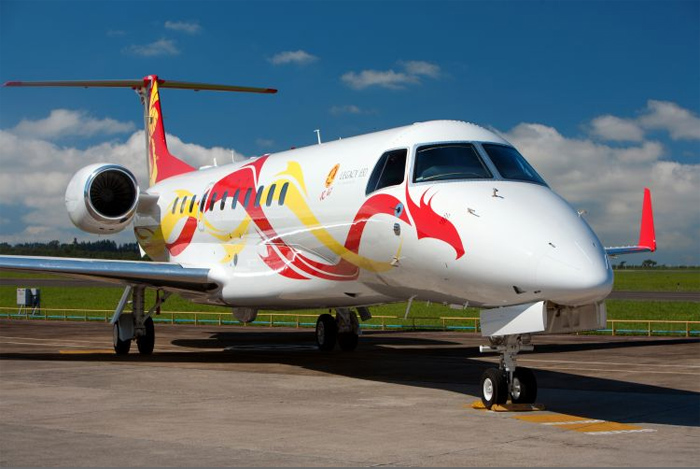 Jackie Chan Embraer Legacy 650 with Dragon Livery