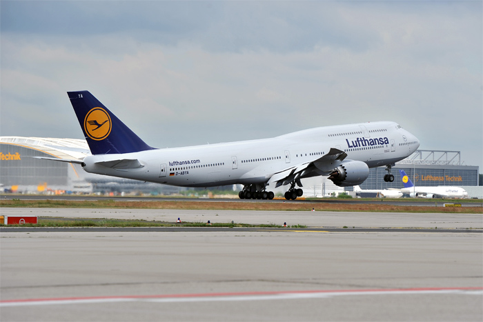 Inaugural Flight - Lufthansa Boeing 747-8 Intercontinental Takeoff Frankfurt
